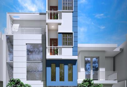 Xây nhà phố 3,5 tầng, 340 Đoàn Văn Bơ, Quận 4, HCM
