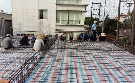 Xây nhà phố 2 tầng, Chị Hạ, Đường Số 1, Quận Bình Tân